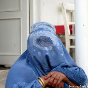 Women in a burka